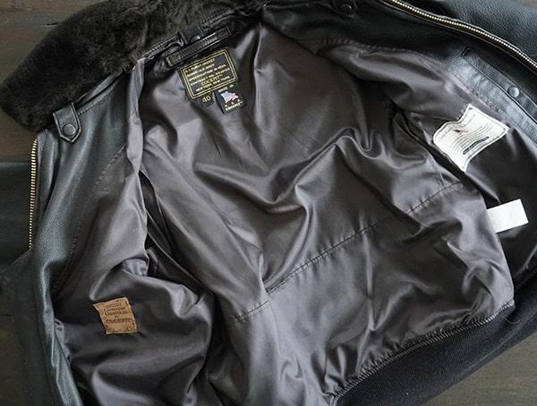 Smmoth Interior Lining Cockpit Usa Dark Brown Leather G 1 Flight Jacket For Men