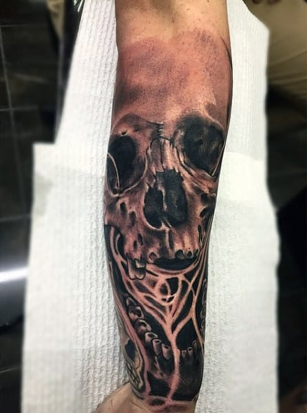 Smoke Effect Men's Tattoos On Wrist