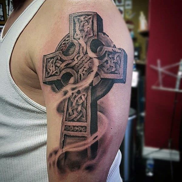 23 Scottish Tattoo Designs Ideas: 100 Celtic Cross Tattoos For Men