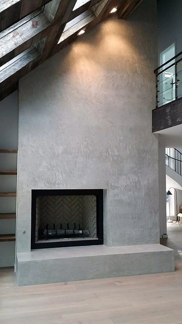 Top Best Concrete Fireplace Designs Minimalistic