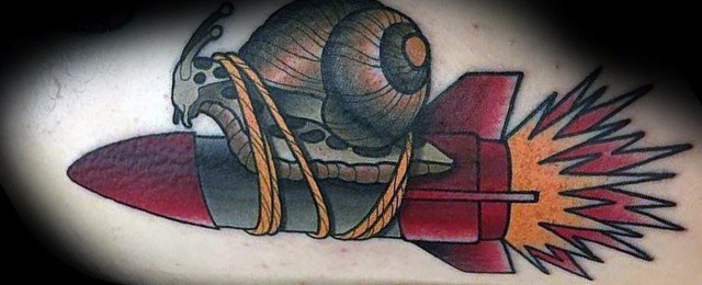 Snail Tattoo Designs For Men