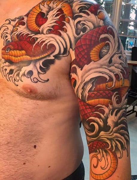Snake Bite Tattoo For Men