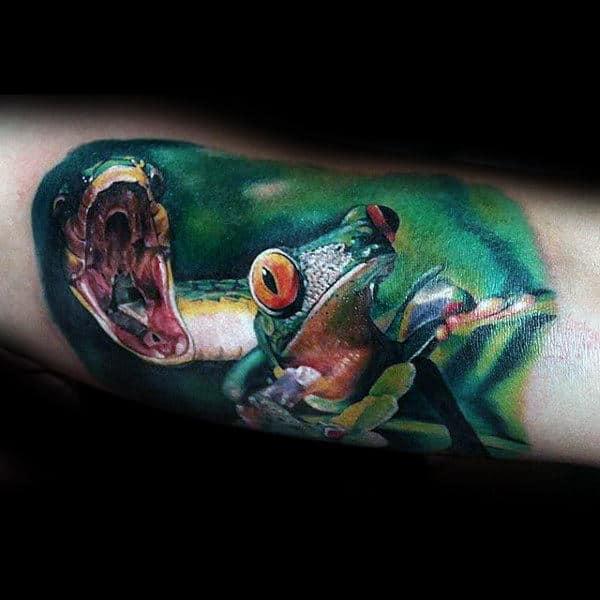 90 Frog Tattoos For Men Amphibian Design Ideas