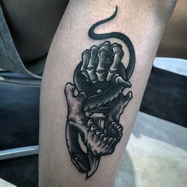 Snake Dagger Guys Tattoo Designs
