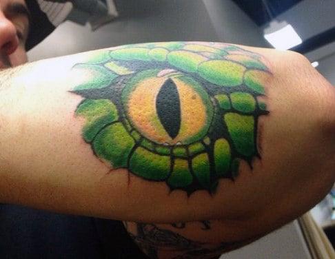 Snake Eye Arm Tattoo For Men