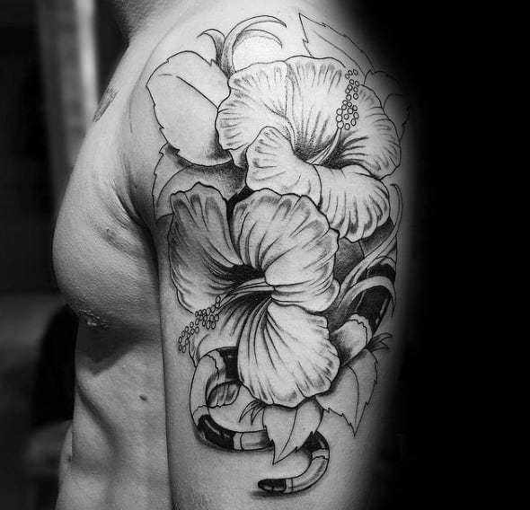 80 Hibiscus Tattoo Designs For Men - Flower Ink Ideas