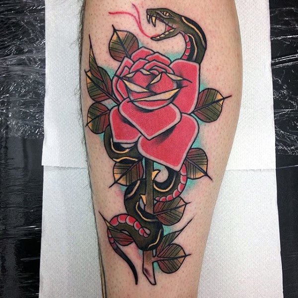nextluxury thigh 2 red rose tattoos