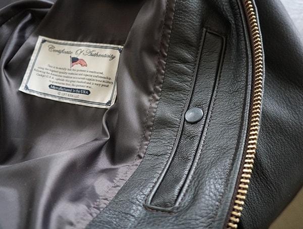Snap Button Closed Interior Pocket On Mens Cockpit Usa G 1 Flight Jacket
