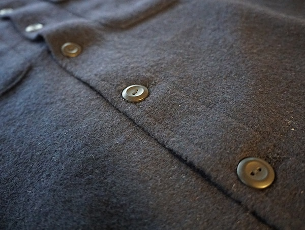 Snap Center Button Down Topo Designs Wool Long Sleeve Shirt For Men