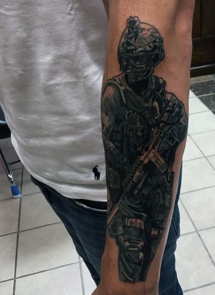 Sniper Tattoos Military For Guys