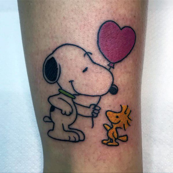70 Snoopy Tattoo Ideas For Men Peanuts Pet Beagle Designs