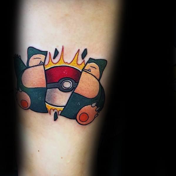 Snorlax Male Tattoos