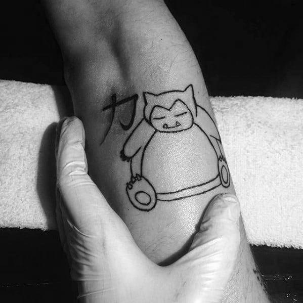 Snorlax Mens Tattoo Designs
