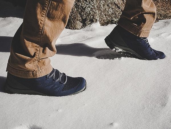 Snow Field Test Review Salomon Outline Mid Gtx Mens Hiking Shoes