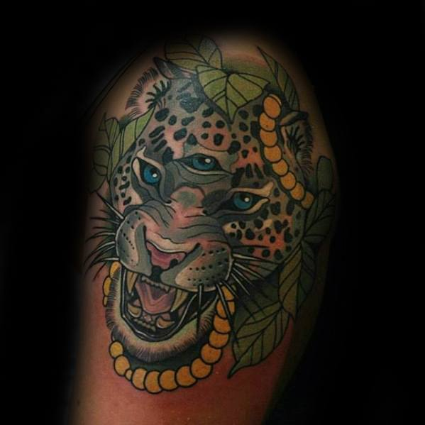 Snow Leopard Tattoo Designs For Guys