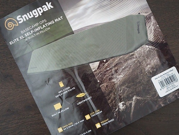 Snugpak Basecamp Ops Self Inflating Xl Mat Features Tag