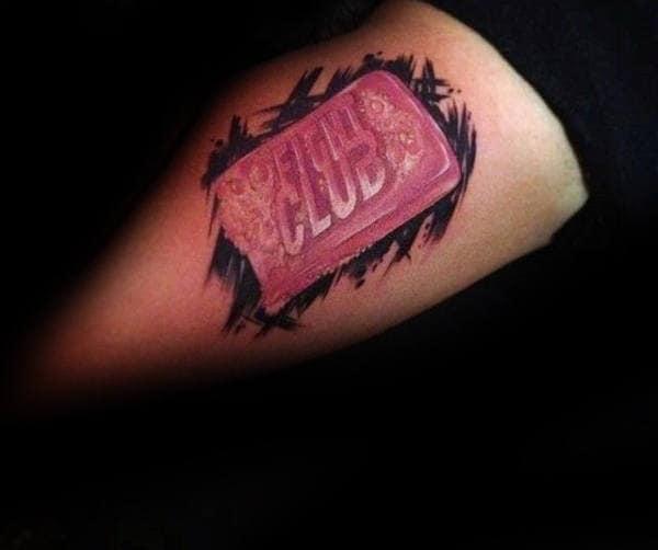Soap Bar Arm Fight Club Male Tattoos