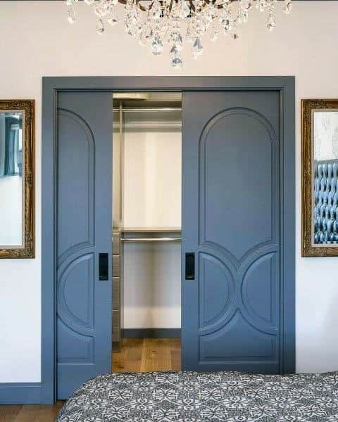 Soft Blue Ornate Closet Door Alternatives Ideas