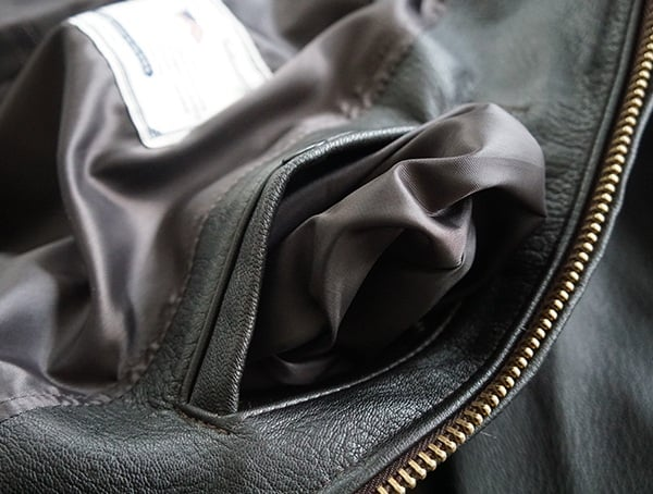 Soft Lined Cockpit Usa G 1 Flight Jacket For Men Interior Pocket
