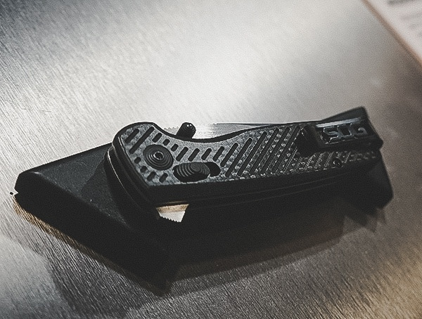 Sog Knives Carbon Fiber Flipper Folding Knife