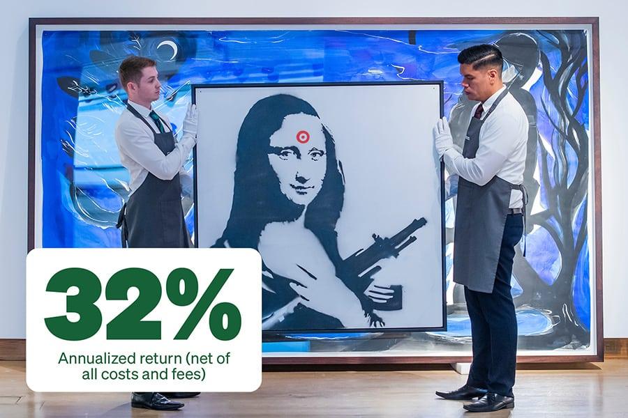 Banksy Mona Lisa verkauft Grafik