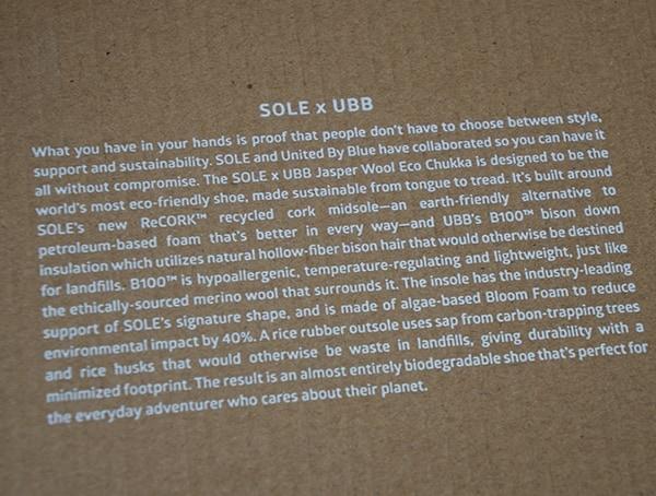 Sole X United By Blue Jasper Wool Eco Chukka Collaboration
