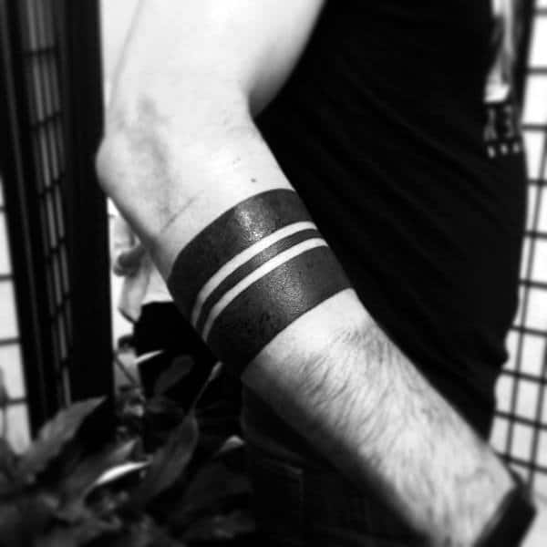 Solid Armband Male Tattoos