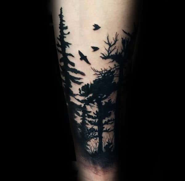 c9eb76602a76b 100 Forest Tattoo Designs For Men - Masculine Tree Ink Ideas