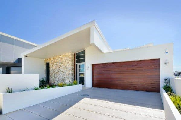 Solid Concrete Modern Home Driveway Ideas