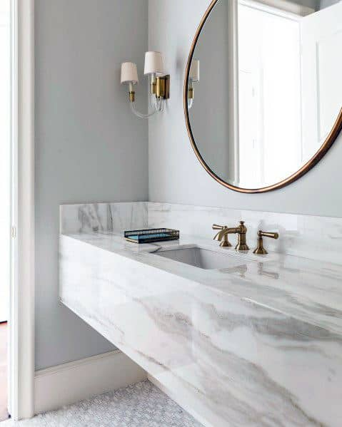 Solid Marble Bathroom Vanity Ideas