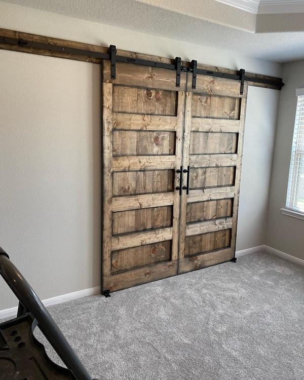 Solid Wood Double Barn Door