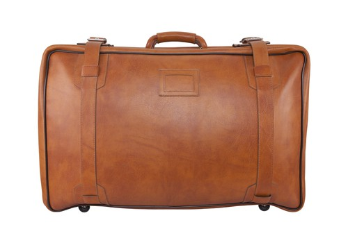 Solo Classic Collection Leather Rolling Laptop Case For Men