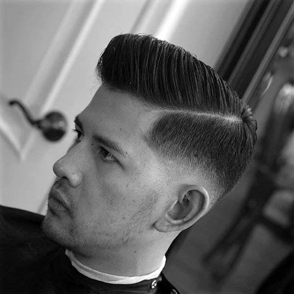 Sophisticated Guys Hard Part Hairstyle Ideas