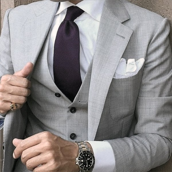 Sophisticated Male Grey Suit Style Ideas