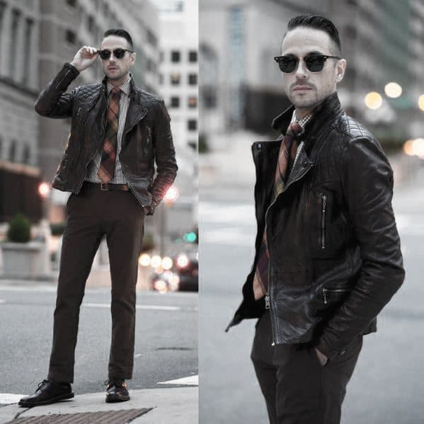 Sophisticated Male Leather Jacket How To Wear A Leather Jacket Outfits Style Ideas
