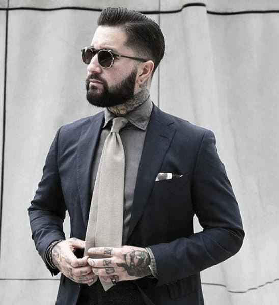 Sophisticated Male Navy Blue Suit Style Ideas