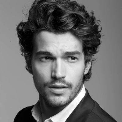 Sophisticated Mens Long Curly Haircut