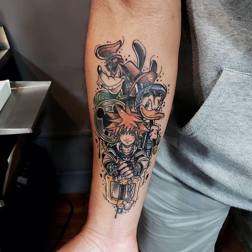 Sora Disney Kingdom Heart Tattoo