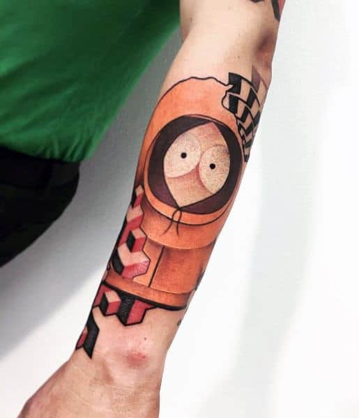 South Park Kenny Forearms Tattoos For Gentlemen