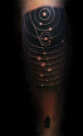 Space And Astronomy Study Tattoo Man Forearms