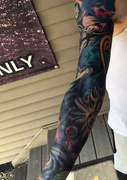 Space Sleeve Tattoos For Men