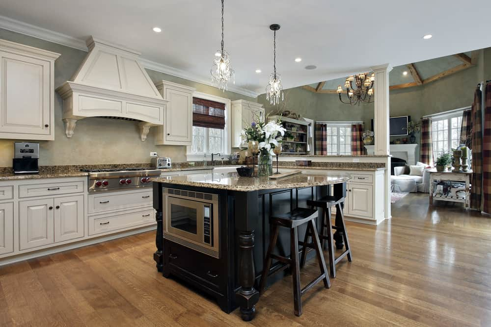 spacious farmhouse kitchen ideas 9