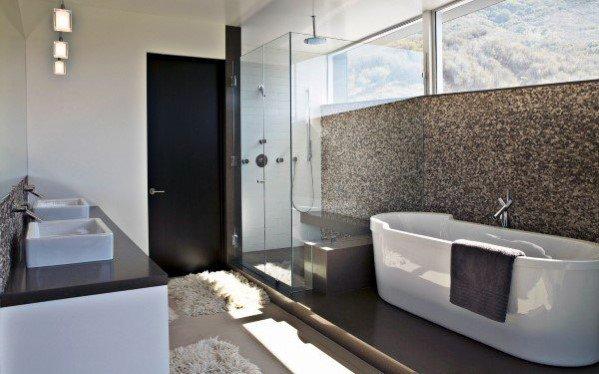 Spacious Master Bathroom Ideas With Dual Sink Vanity