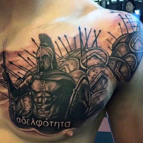 50 Spartan Tattoo Designs For Men