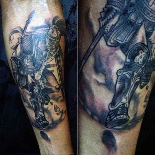Spartan Solider Men's Tattoo