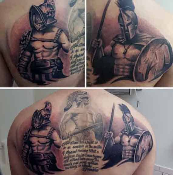 Spartan Tattoos Designs For Males