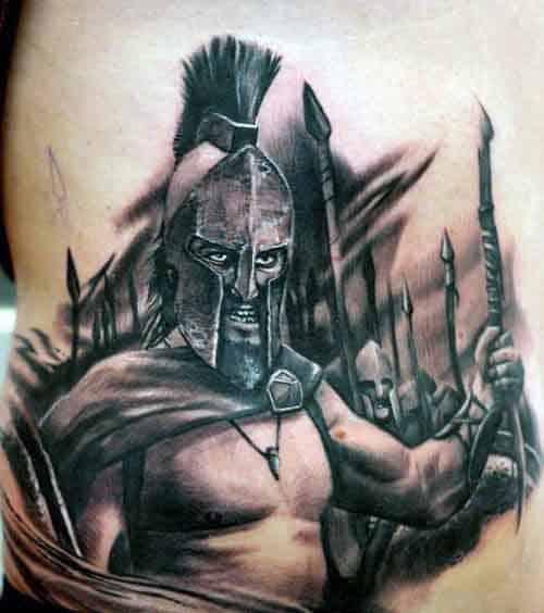Spartan War Tattoo For Men
