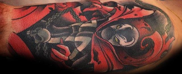 40 Spawn Tattoo Designs For Men – Antihero Ink Ideas