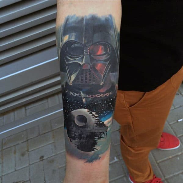 Spectacular Darth Vader Tattoo Guys Forearms