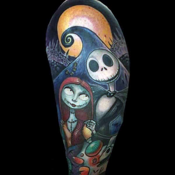 Spectacular Halloween Tattoo Male Arms